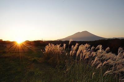 岩手山夕日